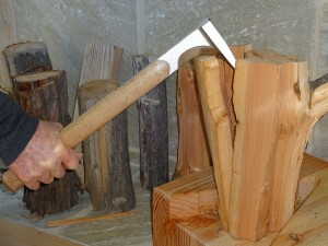 Now pry down the kindling axe and use leverage instead of brute force