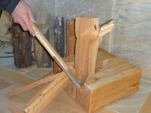 K-Axe kindling axe has now made kindling ready for your fireplace